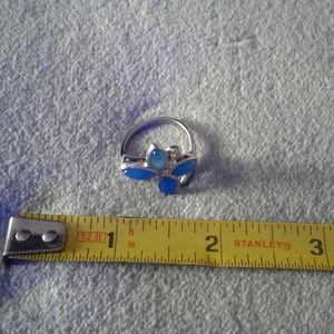 Bleu butterfly ring